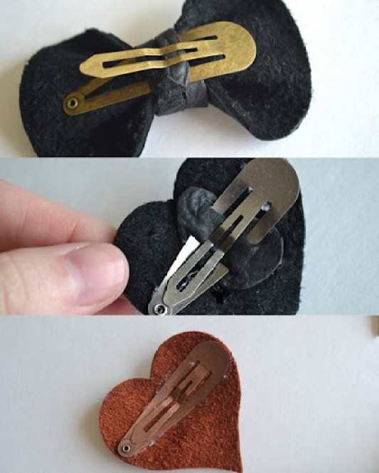 DIY Leather Hair Accessories
