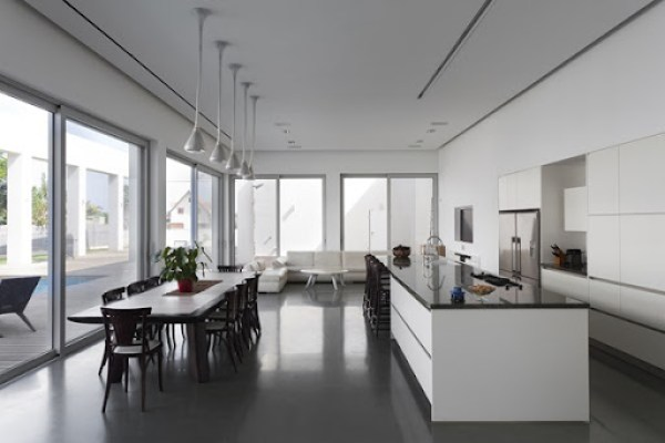 cocina-minimalista-integrada-casa-talmei-elazar-
