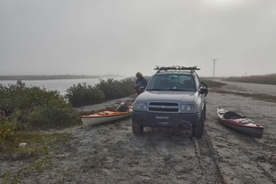 foggy morning for our first Texas launch