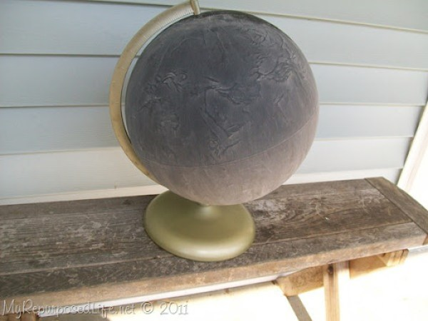 repurposed globe chalkboard paint (9)