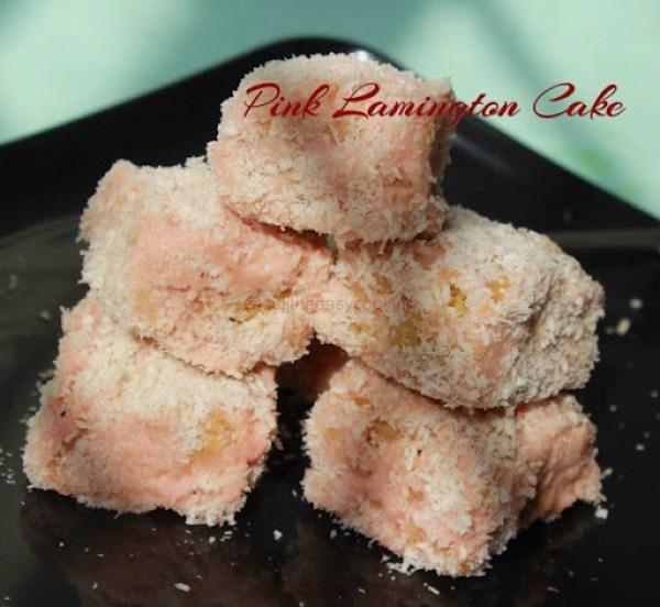 Pink Lamington Cake3