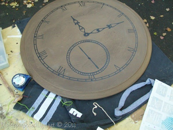 faux pocket watch from table top