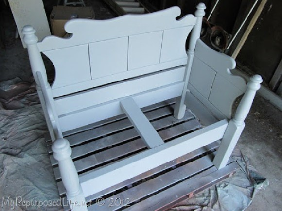 Twin bed-bench upholstered (18)