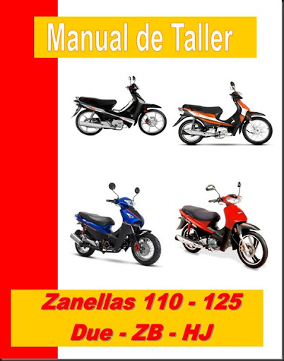 taller zanella 110 125