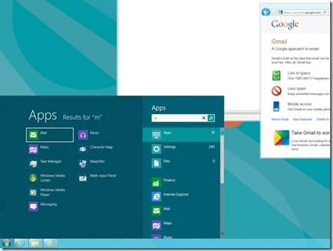 windows 8 - menu iniciar