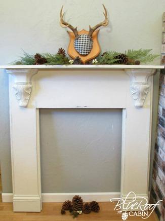 DIY Faux Fireplace Mantel Tutorial