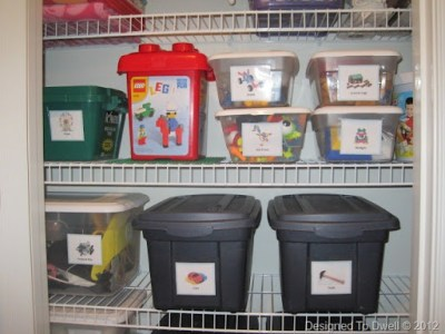 You can use plastic bags to arrange kids toys and good interior designing