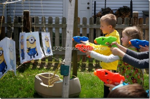 Despicable Me Birthday Party Despicable Me Water Water Gun game