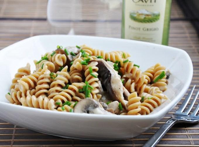 creamy mushroom pasta 060