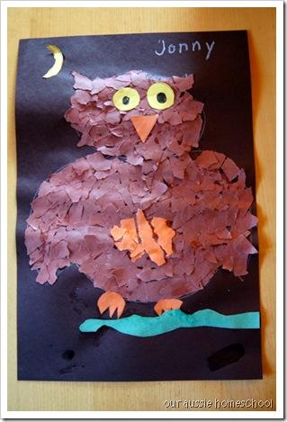 Owl Collage ~ Our Aussie Homeschool