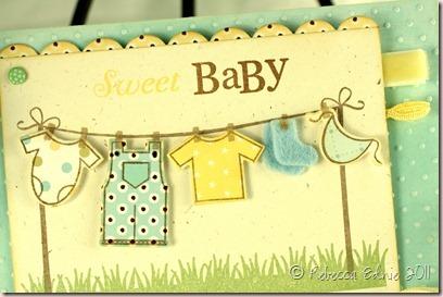 lemon aqua PTI blog hop baby card closeup (2)