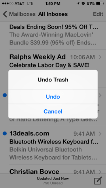 Shake to Undo (trash)