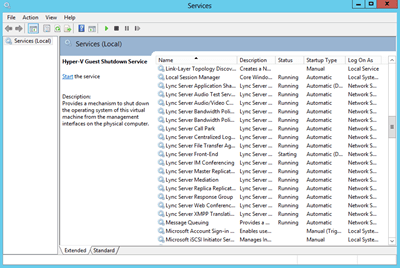 lync services running
