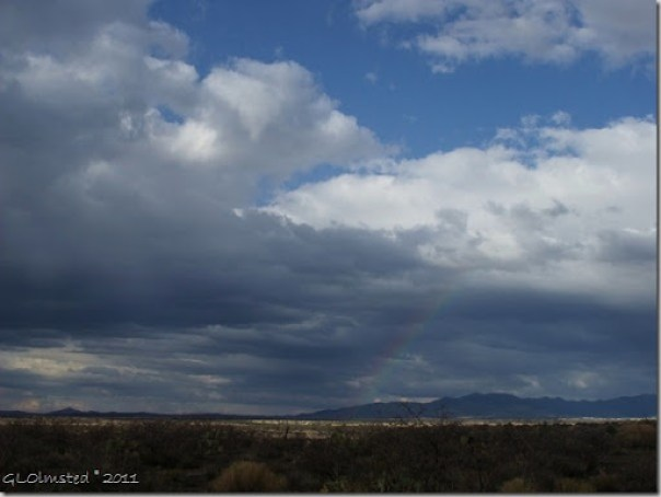 Rainbow over Bradshaw Mts from Wagner Road Arizona