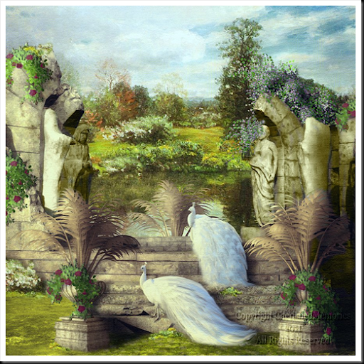 In the Garden with the Temple 1