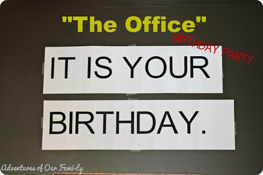 the office birthday party diy