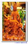 【陽光笑容~自在體~龍觀世音菩薩】神明佛像木雕藝術一尺三梢楠木精雕@九龍佛具