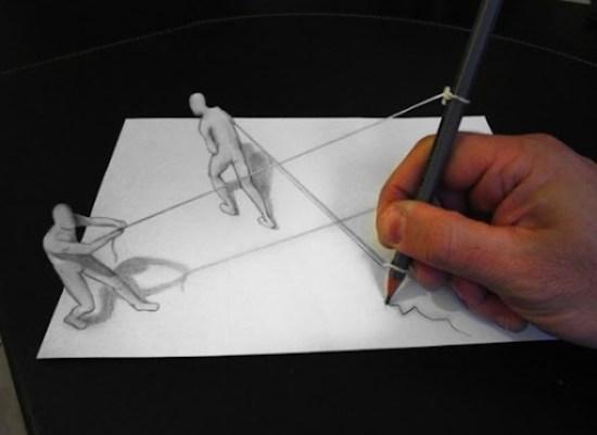 dibujo anamórfico