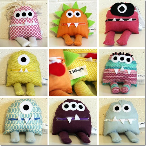 sew a monster zip mouth pouch