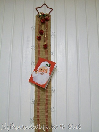 Christmas card holder