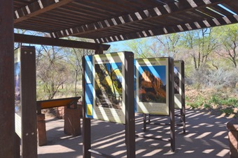lovely visitor center with outdoor displays