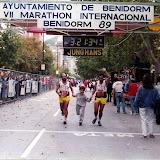 VI Maratón Internacional de Benidorm (26-Noviembre-1989)