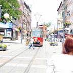 Tramway approaching it's stop.