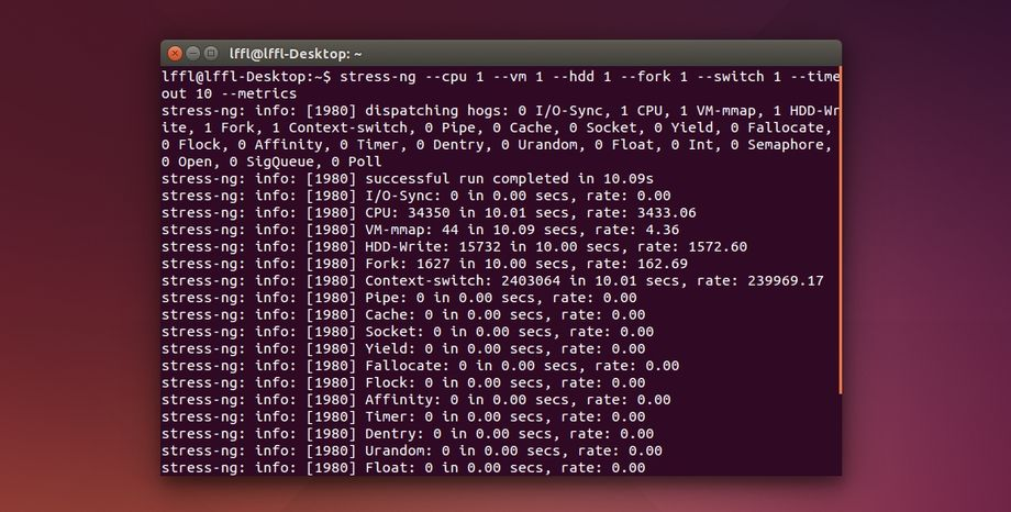 stress-ng in Ubuntu