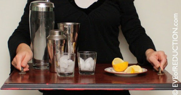 diy bar cart tray
