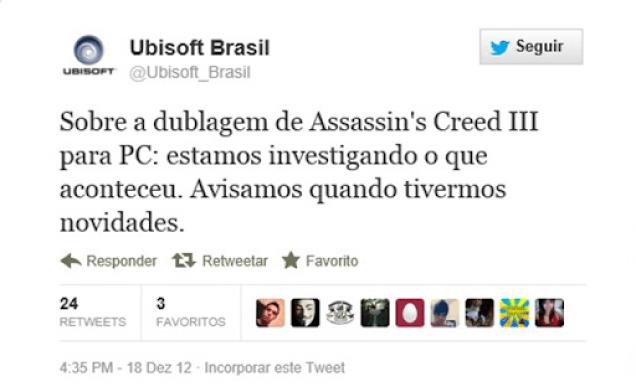 Twitter da Ubisoft Brasil