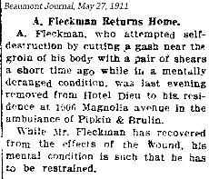 AFleckman-1911-05-27Paper-Beaumont Journal