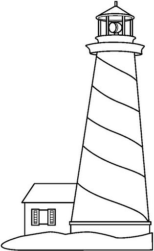 lighthouse coloring drawings lighthouse