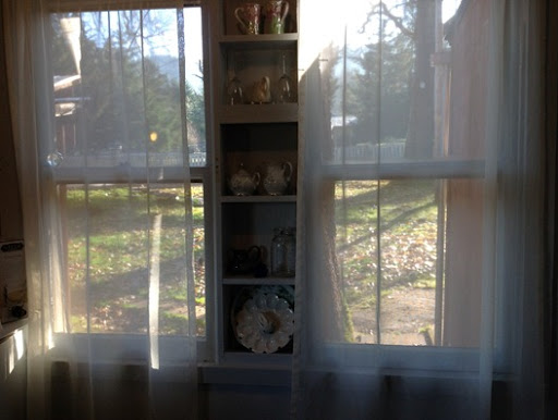 morning sunlight in the cottage kitchen