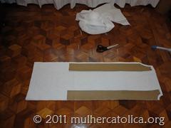 Corte de tecido no chão!