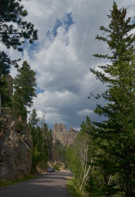 stormy skies coming on the Needles Highway