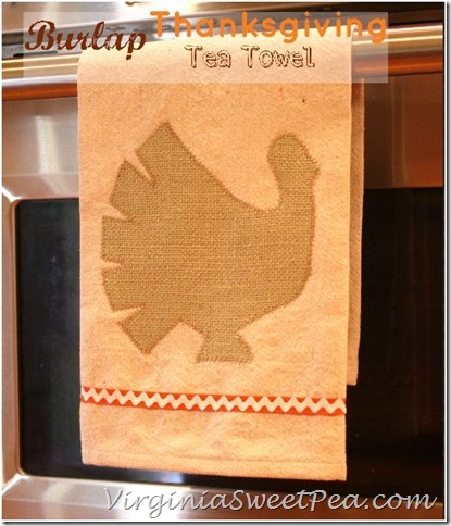 Burlap Turkey Tea Towel