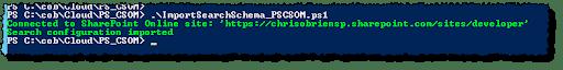 PS CSOM import search schema