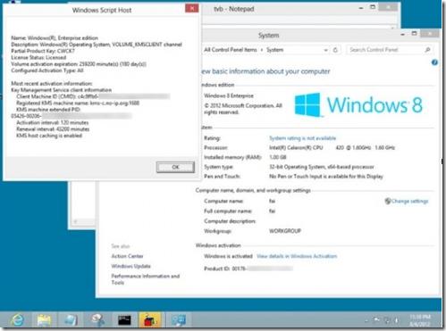 Tela com o windows 8 ativado