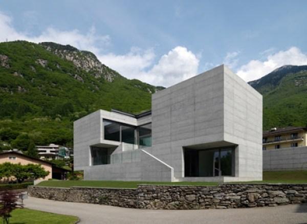 arquitectura casa moderna en suiza