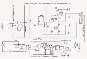 cv petronarwastu: Skema lampu emergency 2