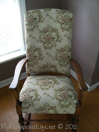makeover on antique rocking chair