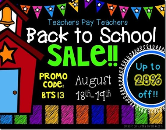 TpT Back to School Sale 2013_Creative Clips