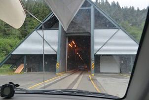 into the 2.5 mile long tunnel