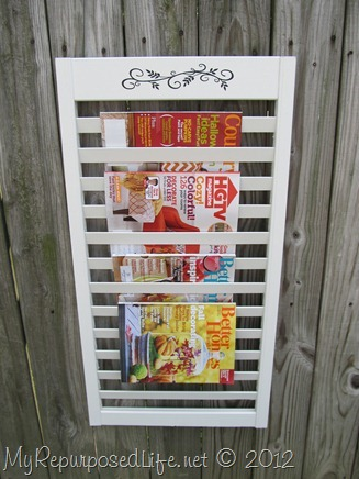 Magazine Rack from bi-fold door