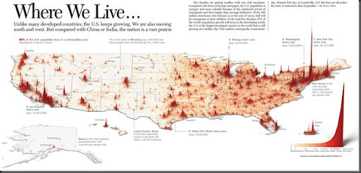 us population density map