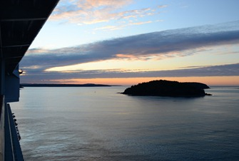 arriving in Bar Harbor Maine