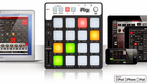 iRig Pads : The ultra-portable, universal MIDI groove controller