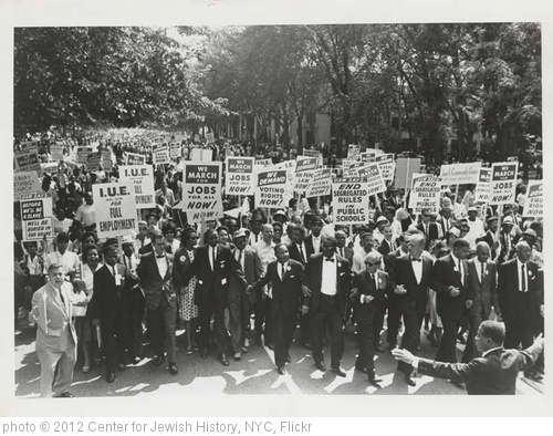 'March on Washington for Jobs and Freedom, Martin Luther King, Jr. and Joachim Prinz pictured, 1963' photo (c) 2012, Center for Jewish History, NYC - license: http://www.flickr.com/commons/usage/
