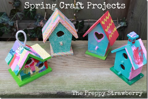 Spring Crafts for Kids {The Preppy Strawberry} ww.thingamajigetc.blogspot.com/