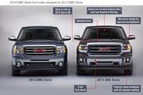 2014 GMC Sierra Front View Comparison